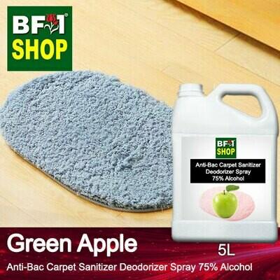 (ABCSD1) Apple - Green Apple Anti-Bac Carpet Sanitizer Deodorizer Spray - 75% Alcohol - 5L