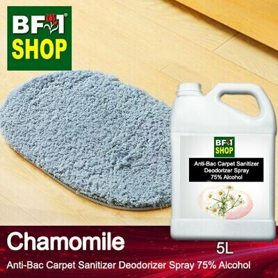 (ABCSD1) Chamomile Anti-Bac Carpet Sanitizer Deodorizer Spray - 75% Alcohol - 5L