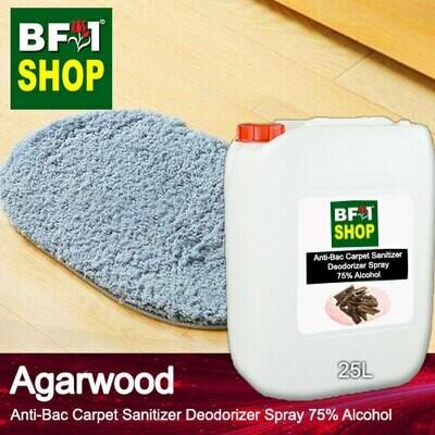 (ABCSD1) Agarwood Anti-Bac Carpet Sanitizer Deodorizer Spray - 75% Alcohol - 25L