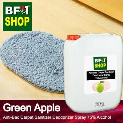 (ABCSD1) Apple - Green Apple Anti-Bac Carpet Sanitizer Deodorizer Spray - 75% Alcohol - 25L
