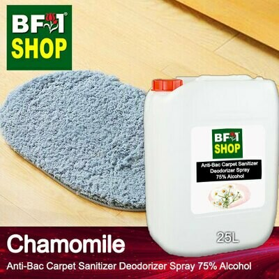 (ABCSD1) Chamomile Anti-Bac Carpet Sanitizer Deodorizer Spray - 75% Alcohol - 25L