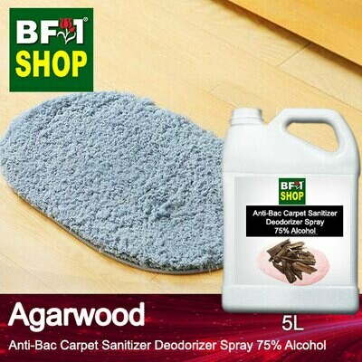 (ABCSD1) Agarwood Anti-Bac Carpet Sanitizer Deodorizer Spray - 75% Alcohol - 5L