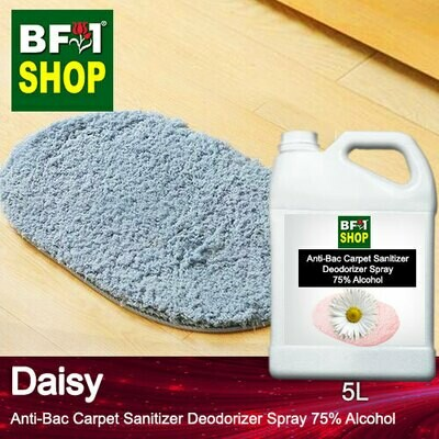 (ABCSD1) Daisy Anti-Bac Carpet Sanitizer Deodorizer Spray - 75% Alcohol - 5L