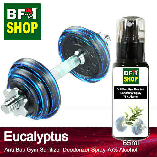 (ABGSD) Eucalyptus Anti-Bac Gym Sanitizer Deodorizer Spray - 75% Alcohol - 65ml