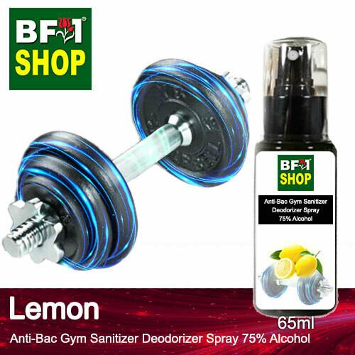 (ABGSD) Lemon Anti-Bac Gym Sanitizer Deodorizer Spray - 75% Alcohol - 65ml