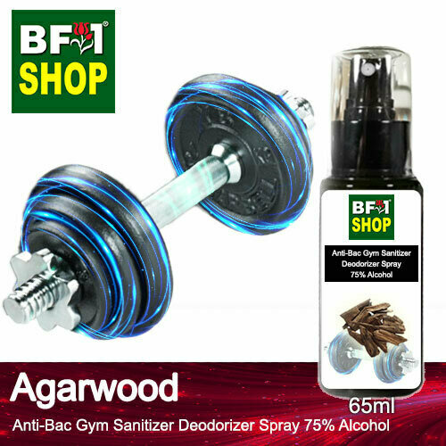 (ABGSD) Agarwood Anti-Bac Gym Sanitizer Deodorizer Spray - 75% Alcohol - 65ml