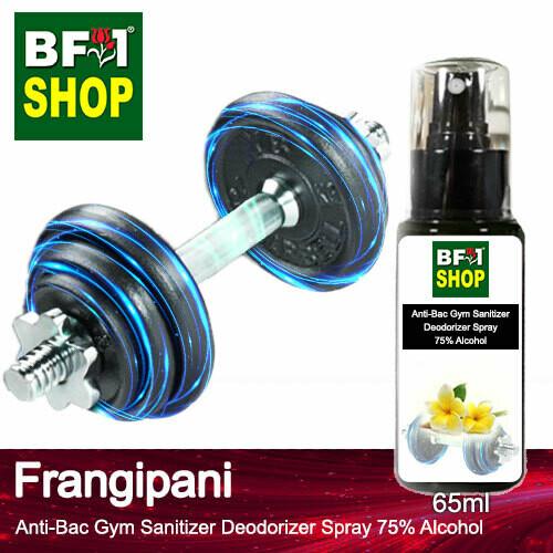 (ABGSD) Frangipani Anti-Bac Gym Sanitizer Deodorizer Spray - 75% Alcohol - 65ml