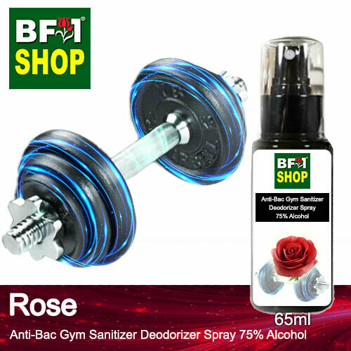 (ABGSD) Rose Anti-Bac Gym Sanitizer Deodorizer Spray - 75% Alcohol - 65ml