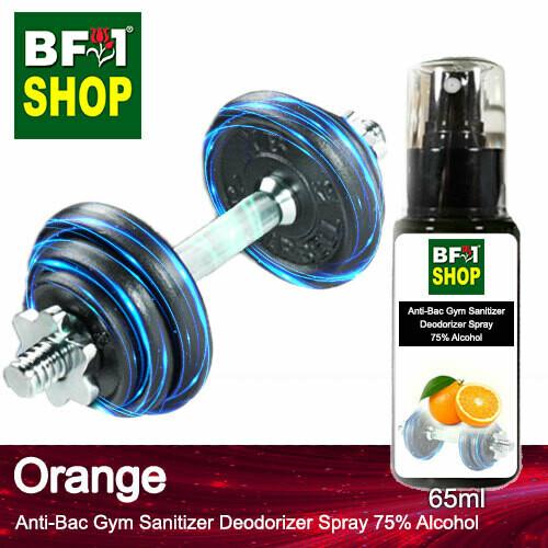 (ABGSD) Orange Anti-Bac Gym Sanitizer Deodorizer Spray - 75% Alcohol - 65ml