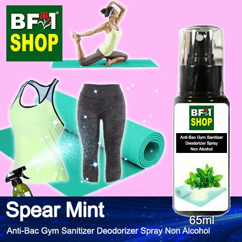 (ABGSD) mint - Spear Mint Anti-Bac Gym Sanitizer Deodorizer Spray - Non Alcohol - 65ml