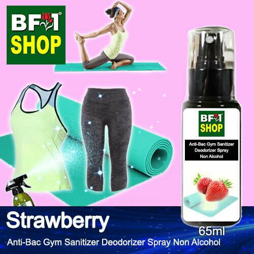 (ABGSD) Strawberry Anti-Bac Gym Sanitizer Deodorizer Spray - Non Alcohol - 65ml
