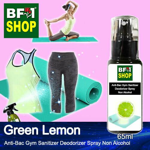 (ABGSD) Lemon - Green Lemon Anti-Bac Gym Sanitizer Deodorizer Spray - Non Alcohol - 65ml