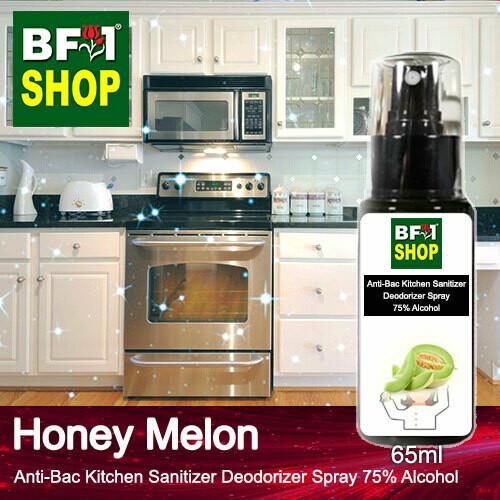 (ABKSD) Honey Melon Anti-Bac Kitchen Sanitizer Deodorizer Spray - 75% Alcohol - 65ml