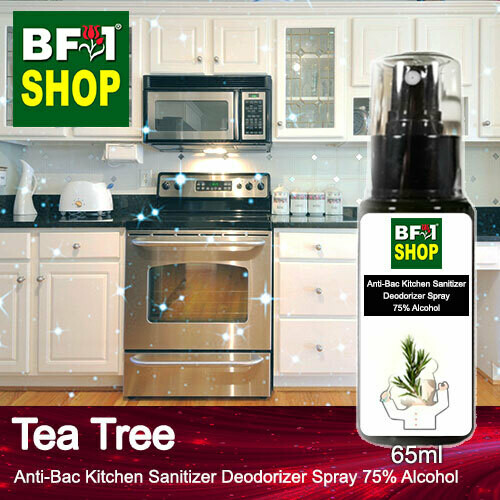 (ABKSD) Tea Tree Anti-Bac Kitchen Sanitizer Deodorizer Spray - 75% Alcohol - 65ml