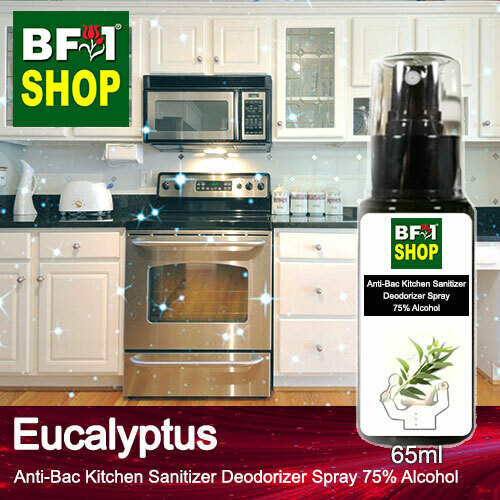 (ABKSD) Eucalyptus Anti-Bac Kitchen Sanitizer Deodorizer Spray - 75% Alcohol - 65ml