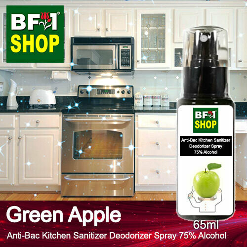 (ABKSD) Apple - Green Apple Anti-Bac Kitchen Sanitizer Deodorizer Spray - 75% Alcohol - 65ml