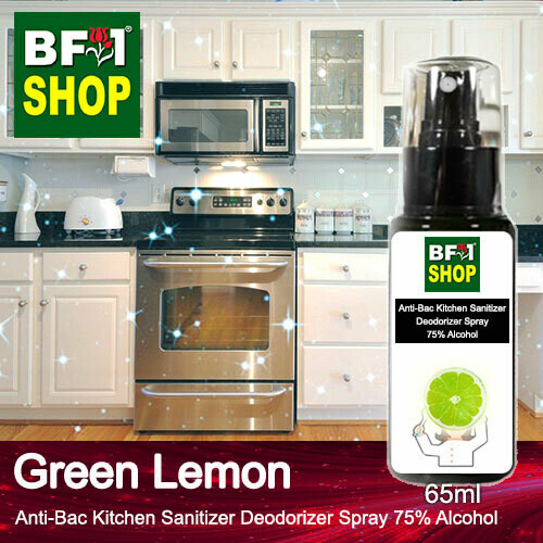 (ABKSD) Lemon - Green Lemon Anti-Bac Kitchen Sanitizer Deodorizer Spray - 75% Alcohol - 65ml