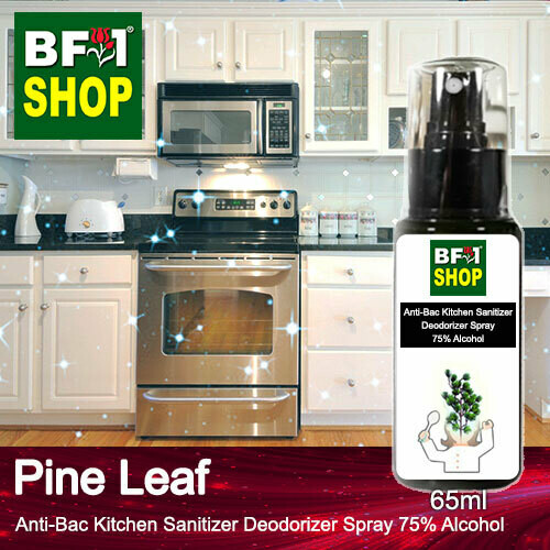 (ABKSD) Pine Leaf Anti-Bac Kitchen Sanitizer Deodorizer Spray - 75% Alcohol - 65ml