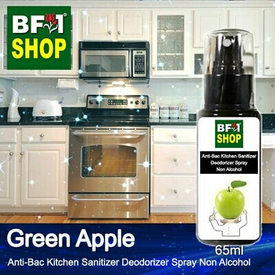 (ABKSD) Apple - Green Apple Anti-Bac Kitchen Sanitizer Deodorizer Spray - Non Alcohol - 65ml