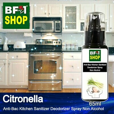 (ABKSD) Citronella Anti-Bac Kitchen Sanitizer Deodorizer Spray - Non Alcohol - 65ml