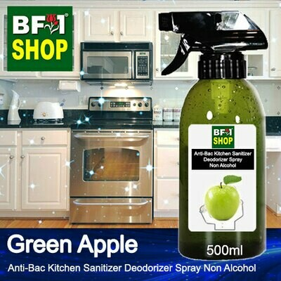 (ABKSD) Apple - Green Apple Anti-Bac Kitchen Sanitizer Deodorizer Spray - Non Alcohol - 500ml