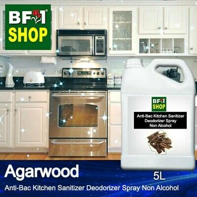 (ABKSD) Agarwood Anti-Bac Kitchen Sanitizer Deodorizer Spray - Non Alcohol - 5L