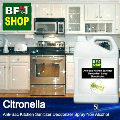 (ABKSD) Citronella Anti-Bac Kitchen Sanitizer Deodorizer Spray - Non Alcohol - 5L