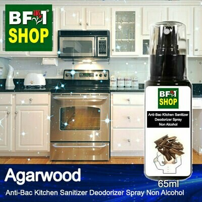 (ABKSD) Agarwood Anti-Bac Kitchen Sanitizer Deodorizer Spray - Non Alcohol - 65ml