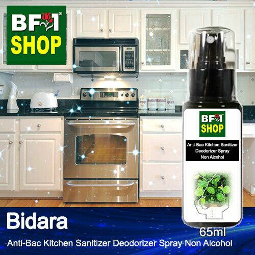 (ABKSD) Bidara Anti-Bac Kitchen Sanitizer Deodorizer Spray - Non Alcohol - 65ml