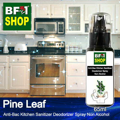 (ABKSD) Pine Leaf Anti-Bac Kitchen Sanitizer Deodorizer Spray - Non Alcohol - 65ml