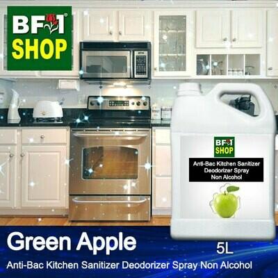 (ABKSD) Apple - Green Apple Anti-Bac Kitchen Sanitizer Deodorizer Spray - Non Alcohol - 5L