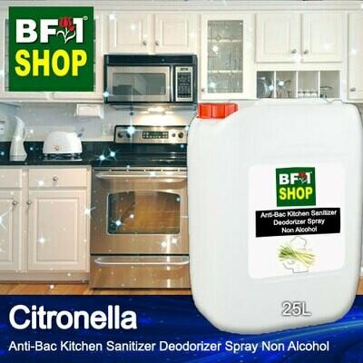 (ABKSD) Citronella Anti-Bac Kitchen Sanitizer Deodorizer Spray - Non Alcohol - 25L