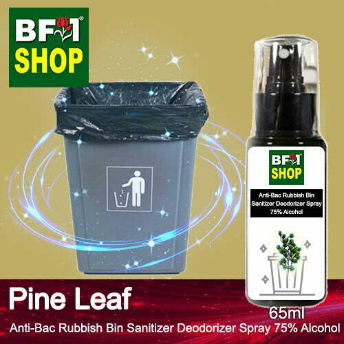 (ABRBSD) Pine Leaf Anti-Bac Rubbish Bin Sanitizer Deodorizer Spray - 75% Alcohol - 65ml