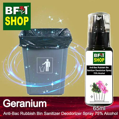 (ABRBSD) Geranium Anti-Bac Rubbish Bin Sanitizer Deodorizer Spray - 75% Alcohol - 65ml