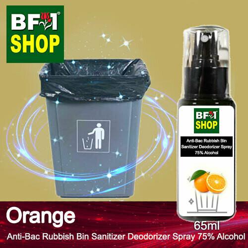 (ABRBSD) Orange Anti-Bac Rubbish Bin Sanitizer Deodorizer Spray - 75% Alcohol - 65ml