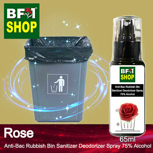(ABRBSD) Rose Anti-Bac Rubbish Bin Sanitizer Deodorizer Spray - 75% Alcohol - 65ml