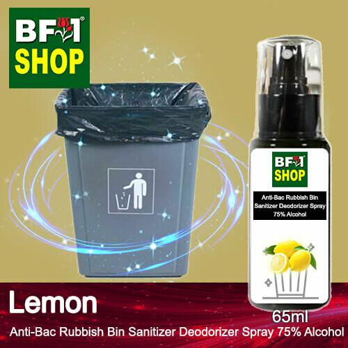(ABRBSD) Lemon Anti-Bac Rubbish Bin Sanitizer Deodorizer Spray - 75% Alcohol - 65ml