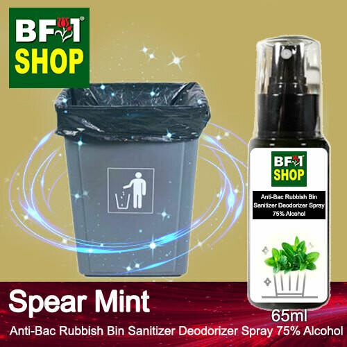 (ABRBSD) mint - Spear Mint Anti-Bac Rubbish Bin Sanitizer Deodorizer Spray - 75% Alcohol - 65ml