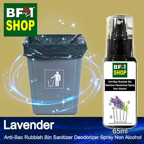 (ABRBSD) Lavender Anti-Bac Rubbish Bin Sanitizer Deodorizer Spray - Non Alcohol - 65ml