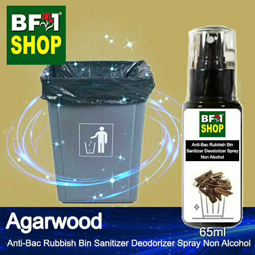 (ABRBSD) Agarwood Anti-Bac Rubbish Bin Sanitizer Deodorizer Spray - Non Alcohol - 65ml