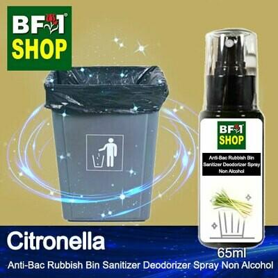 (ABRBSD) Citronella Anti-Bac Rubbish Bin Sanitizer Deodorizer Spray - Non Alcohol - 65ml