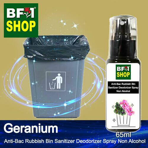(ABRBSD) Geranium Anti-Bac Rubbish Bin Sanitizer Deodorizer Spray - Non Alcohol - 65ml