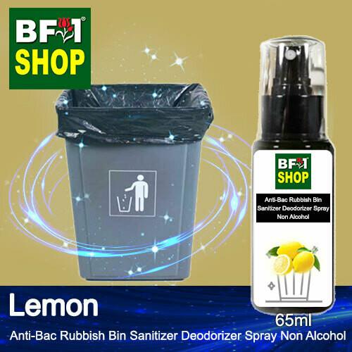 (ABRBSD) Lemon Anti-Bac Rubbish Bin Sanitizer Deodorizer Spray - Non Alcohol - 65ml