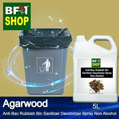 (ABRBSD) Agarwood Anti-Bac Rubbish Bin Sanitizer Deodorizer Spray - Non Alcohol - 5L