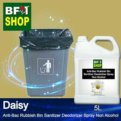 (ABRBSD) Daisy Anti-Bac Rubbish Bin Sanitizer Deodorizer Spray - Non Alcohol - 5L