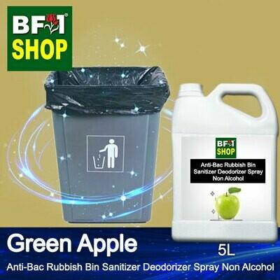 (ABRBSD) Apple - Green Apple Anti-Bac Rubbish Bin Sanitizer Deodorizer Spray - Non Alcohol - 5L
