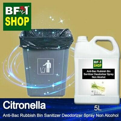 (ABRBSD) Citronella Anti-Bac Rubbish Bin Sanitizer Deodorizer Spray - Non Alcohol - 5L