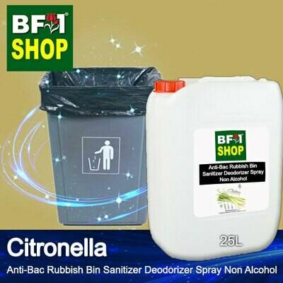 (ABRBSD) Citronella Anti-Bac Rubbish Bin Sanitizer Deodorizer Spray - Non Alcohol - 25L