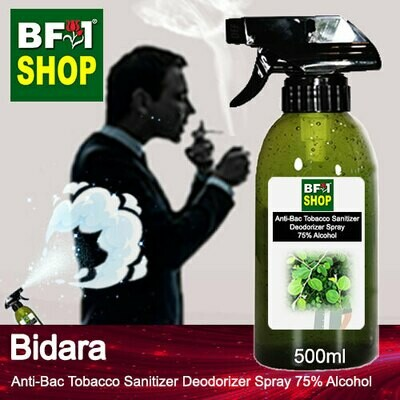 (ABTSD1) Bidara Anti-Bac Tobacco Sanitizer Deodorizer Spray - 75% Alcohol - 500ml
