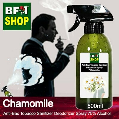(ABTSD1) Chamomile Anti-Bac Tobacco Sanitizer Deodorizer Spray - 75% Alcohol - 500ml